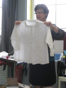 chemise brodée