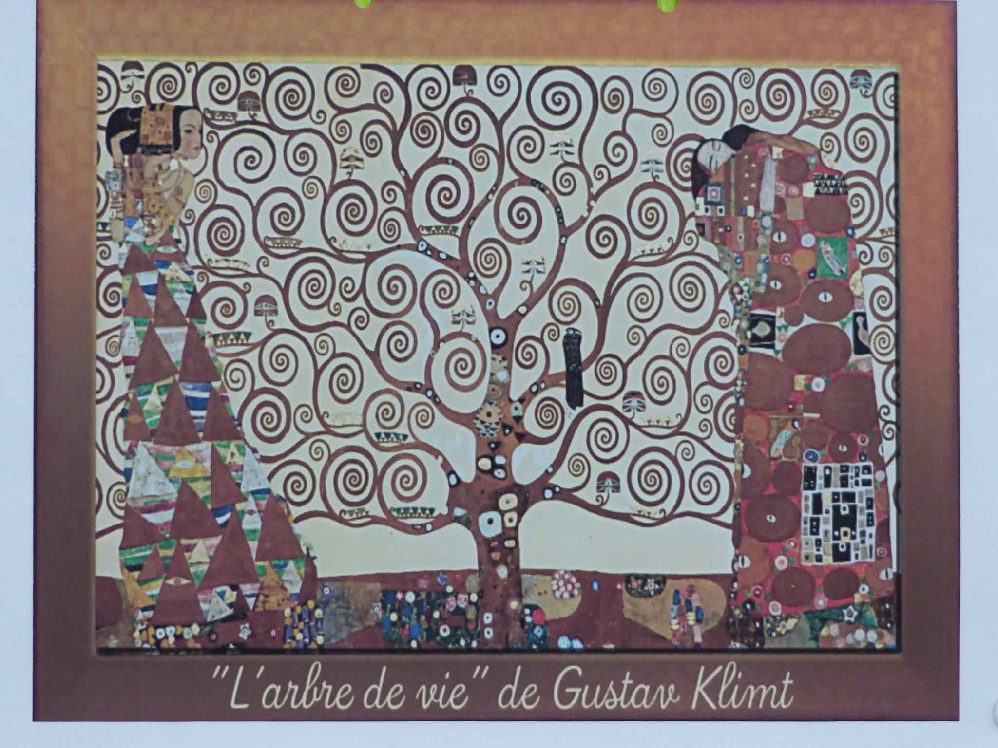 Klimt L Arbre De Vie Tableau les spirales à la manière de klimt | st colomban – saint louis
